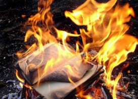 books in fire